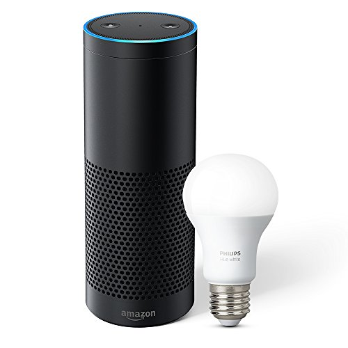 Echo Plus with built-in Hub – Black + Philips Hue Bulb included