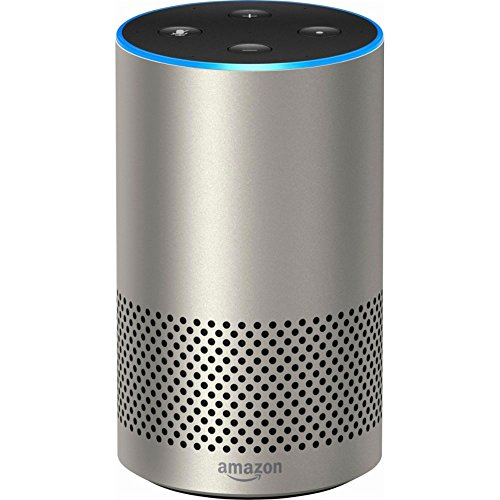 Echo (2nd Generation) - Smart speaker with Alexa - Silver Finish