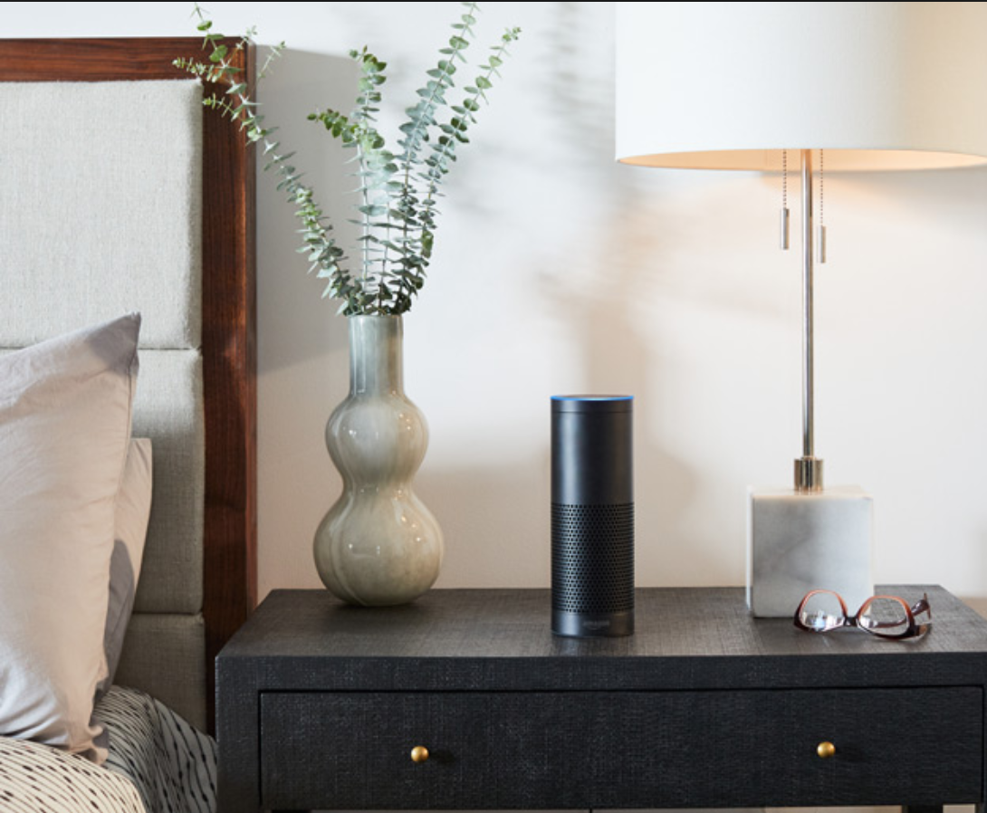 amazon echo in bedroom