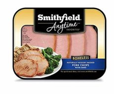 Smithfield, Fully Cooked Boneless Pork Chops, 1 lb.