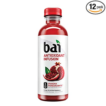 Bai Flavored Water, Ipanema Pomegranate, 12 Count