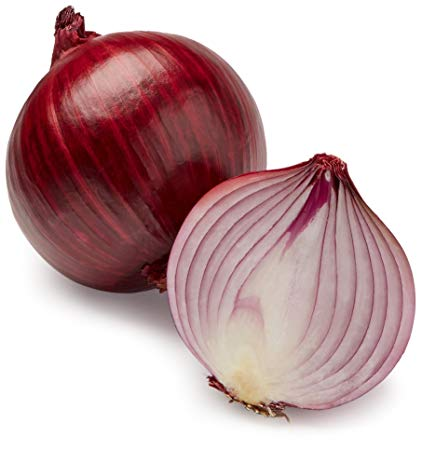 One Large Organic Red Onion - Fresh