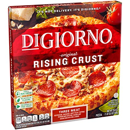 DiGiorno Frozen Pizza Three Meat, Original Rising Crust, 29.8 oz (Frozen)