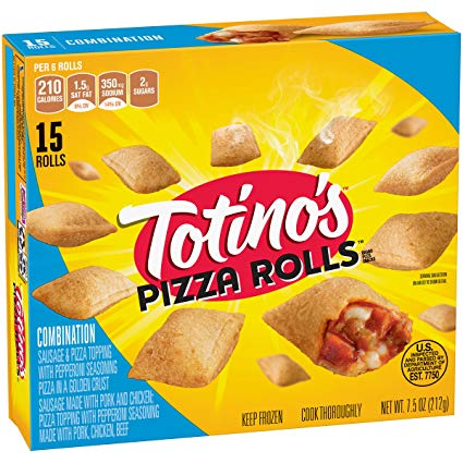 Totino's Pizza Rolls, 15 Rolls, 7.5 oz Box