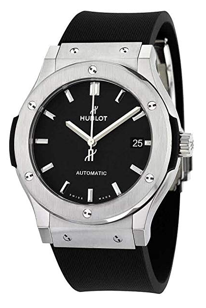 Hublot Classic Fusion Black Dial Black Rubber Mens 45mm Watch 511.NX.1171.RX